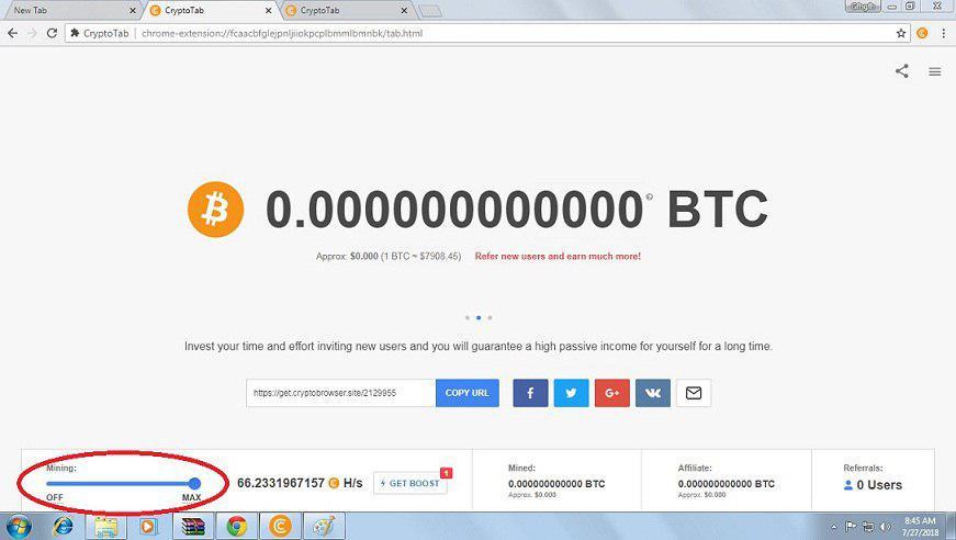 کسب بیت کوین رایگان cryptotab